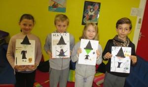 sorcière origami