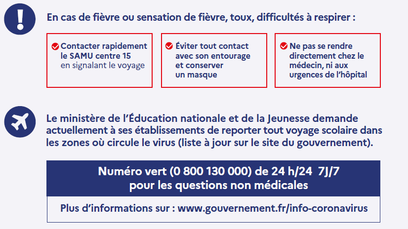 Coronavirus: consignes de l'Education nationale